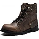 זול נעלי ספורט לגברים-בגדי ריקוד גברים Fashion Boots עור נאפה Leather סתיו / חורף מגפיים מגפונים\מגף קרסול קפה