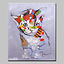cheap Animal Paintings-Oil Painting Hand Painted - Animals Animals Canvas