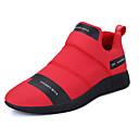 זול סניקרס לגברים-בגדי ריקוד גברים נעליים PU מיקרופייבר אביב סתיו נוחות נעלי ספורט שחור כחול כהה אדום