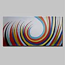 tanie Obrazy: motyw zwierzęcy-Hang-Malowane obraz olejny Ręcznie malowane - Streszczenie Prosty / Nowoczesny Brezentowy / Rozciągnięte płótno