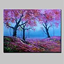 cheap Landscape Paintings-Oil Painting Hand Painted - Landscape Modern Rolled Canvas