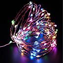 baratos Mangueiras de LED-ZDM® 10m Cordões de Luzes 100 LEDs SMD 0603 Branco Quente / Branco Frio / Vermelho Impermeável / USB / Festa 5 V / Carregamento USB 1pç
