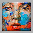 cheap Prints-Oil Painting Hand Painted - People Modern Rolled Canvas