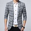 cheap Smartwatches-Men's Cotton Blazer - Plaid
