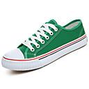 baratos Tênis Feminino-Mulheres Sapatos Couro Ecológico Primavera / Outono Conforto Tênis Sem Salto Vermelho / Verde / Azul