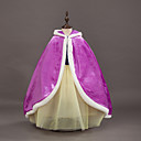 cheap Kids Halloween Costumes-Princess / Fairytale / Anna Cloak Christmas / Masquerade Festival / Holiday Halloween Costumes Purple / Red Color Block Cover Up Adorable