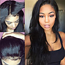 cheap Human Hair Wigs-Human Hair Lace Front Wig Brazilian Hair Straight Wig 130% Hair Density Natural Hairline 100% Virgin Unprocessed Women's Medium Length Human Hair Lace Wig