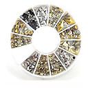 billige Festhovedtøj-1 pcs Negle Smykker Negle kunst Manicure Pedicure Daglig Metallic / Mode / Negle smykker