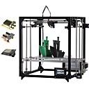 baratos Impressoras 3D-Impressora 3d quadrado flsun 3.2 polegadas tela táctil extrusora dupla wifi diy kit de impressora 3d auto nivelamento cama aquecida com 2