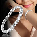 cheap Bracelets-Women's Cubic Zirconia Tennis Chain Chain Bracelet - Dainty, Korean, Fashion Bracelet Silver For Gift / Date