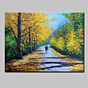 cheap Landscape Paintings-Oil Painting Hand Painted - Landscape Modern Canvas / Rolled Canvas