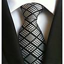 baratos Acessórios Masculinos-Homens Trabalho Casual Gravata Xadrez/Quadrados