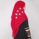 cheap Ethnic & Cultural Costumes-Ethnic/Religious Hijab / Khimar Abaya Arabian Dress Women's Festival / Holiday Halloween Costumes Black Beige Gray Red Blue Color Block