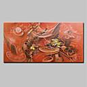 tanie Pejzaże-Hang-Malowane obraz olejny Ręcznie malowane - Streszczenie Nowoczesny Brezentowy / Walcowane płótno