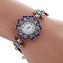 hesapli Moda Saatler-NAVIFORCE Kadın's Quartz Bilek Saati Bilezik Saat Çince imitasyon Pırlanta Alaşım Bant Vintage Günlük Bohem Moda Beyaz Mavi
