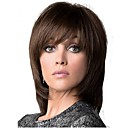 cheap Synthetic Capless Wigs-Synthetic Wig Straight Brown Layered Haircut Dark Brown / Medium Auburn Synthetic Hair Women's Brown Wig Medium Length Capless StrongBeauty