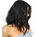 cheap Human Hair Wigs-Human Hair Glueless Full Lace Full Lace Wig Bob style Brazilian Hair Loose Wave Natural Wave Wig 130% Density with Baby Hair Bleached Knots Women's Short Medium Length Human Hair Lace Wig XCSUNNY