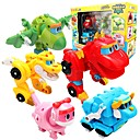cheap Robots-Robot Toy Boats Race Car Toys Dinosaur Animal Animals Vehicles Animals Transformable Parent-Child Interaction Classic Animal Soft Plastic