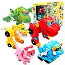 tanie Roboty-Robot Łódki do zabawy Samochód wyścigowy Pojazdy Dinozaur Zwierzę Transformacja Zwierzęta Interakcja rodziców i dzieci Zwierzę Miękki plastik Dla dzieci Zabawki Prezent 1 pcs
