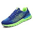 זול נעלי בד ומוקסינים לגברים-בגדי ריקוד גברים PU סתיו נוחות נעלי אתלטיקה אפור / ירוק וכחול / כחול +ורוד / ריצה