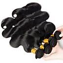 זול תוספות שיער בגוון טבעי-3 חבילות שיער ברזיאלי Body Wave שיער בתולי טווה שיער אדם שוזרת שיער אנושי תוספות שיער אדם בגדי ריקוד נשים