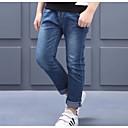 tanie Spodnie dla chłopców-Dzieci Dla chłopców Aktywny Solidne kolory / Prosty Bawełna Jeansy Niebieski