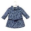 tanie The Freshest One-Piece-Dziecko Dla dziewczynek Casual Codzienny Kwiaty Długi rękaw Regularny Bawełna Koszula Niebieski 90