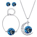 cheap Earrings-Women's Jewelry Set - Classic, Fashion Include Stud Earrings / Necklace Dark Blue / Brown For Daily