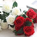 hesapli Suni Çiçek-Yapay Çiçekler 1 şube Avrupa Tipi Güller Masaüstü Çiçeği