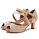 זול נעליים לטיניות-נעליים לטיניות טול סנדלים / עקבים שחבור / Paillette עקב מותאם מותאם אישית נעלי ריקוד זהב