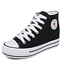 cheap Women's Sneakers-Women's Shoes Canvas Spring / Fall Comfort Sneakers Creepers Black / Red / Blue