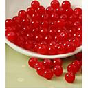 זול חרוזים-תכשיטים DIY 80 יח חרוזים זכוכית פוקסיה קפה ורוד ורד אדום ירוק עגול חָרוּז 1 cm עשה זאת בעצמך שרשראות צמידים