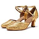 זול נעליים מודרניות-נעליים מודרניות Paillette סנדלים / עקבים קשתות עקב מותאם מותאם אישית נעלי ריקוד זהב