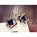 cheap Shoulder Bags-Women's Crystal Stud Earrings - Crystal Fashion Black / Blue For Party / Daily