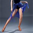 abordables Ropa para Baile Latino-Baile Latino Pantalones y Faldas Mujer Rendimiento Licra Borla Cintura Media Faldas