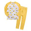 ieftine Lenjerie Fete & Șosete-Copil Unisex Simplu Imprimeu Manșon Lung Bumbac Pijamale