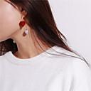 ieftine Cercei la Modă-Pentru femei Cercei Picătură - Imitație de Perle Inimă Dulce Negru / Roșu Vin Pentru Petrecere Cadou
