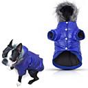 baratos Roupas para Cães-Cachorro Casacos Camisola com Capuz Pijamas Jaquetas de Penas Roupas para Cães Sólido Cinzento Roxo Azul Rosa claro Algodão Ocasiões