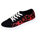 זול סניקרס לגברים-בגדי ריקוד גברים PU אביב / סתיו נוחות נעלי ספורט קולור בלוק שחור אדום / שחור / כחול