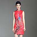 זול נעלי בד ומוקסינים לגברים-עומד פרח, פרחוני - שמלה גזרת A נדן סגנון סיני בגדי ריקוד נשים