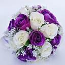 """זול הד פיס למסיבות-פרחי חתונה זרים חתונה / אירוע מיוחד פּוֹלִיאֶסטֶר 11.02""""(לערך.28ס""""מ)"""