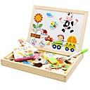 baratos Desenho Brinquedos-Brinquedo para Desenhar Lousas Mágicas Quebra-Cabeça Tema Clássico Magnética Interação pai-filho De madeira Dom