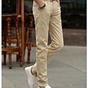 povoljno Muške duge i kratke hlače-Muškarci Pamuk Chinos Hlače Jednobojni