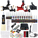 cheap Starter Tattoo Kits-DRAGONHAWK Tattoo Machine Starter Kit - 2 pcs Tattoo Machines with 1 x 30 ml / 28 x 5 ml tattoo inks, Professional Level, All in One, Easy to Install Alloy Mini power supply Case Not Included 2