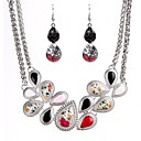 cheap Jewelry Sets-Women's Cubic Zirconia Jewelry Set - Zircon Drop Classic, Fashion Include Drop Earrings / Necklace Silver For Ceremony / Festival