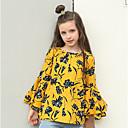זול סטים של ביגוד לבנות-חולצה שרוול ארוך פרחוני וינטאג' בנות ילדים