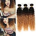 halpa Synteettiset hiuspidennykset-3 pakettia 4 pakettia Brasilialainen Kinky Curly 10A Aidot hiukset Ombre 10-26 inch Ombre Hiukset kutoo kuuma Myynti Hiukset Extensions