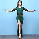cheap Latin Dance Wear-Belly Dance Outfits Women's Training Modal Split Half Sleeves High Dress Shorts