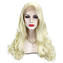 cheap Christmas Gifts-Synthetic Wig Wavy / Body Wave Blonde Synthetic Hair Side Part Blonde Wig Long Capless Light Blonde
