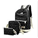 baratos Conjunto de Bolsas-Mulheres Bolsas Tela de pintura Conjuntos de saco 3 Pcs Purse Set Ziper Azul Escuro / Cinzento / Roxo